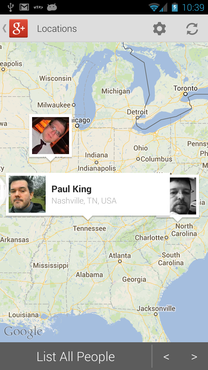 Google+ Locations working after fix