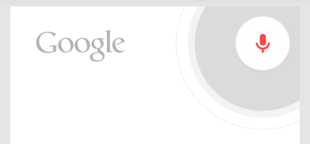 Google Now voice search