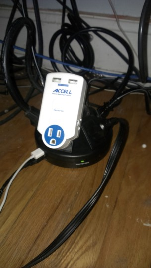 Accell Powramid with an Accell Travel charger - just because