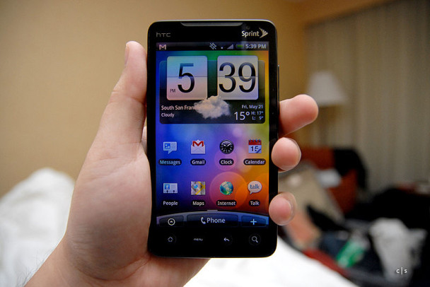 HTC EVO 4G image from WikiPedia because I'm too lazy to walk downstairs