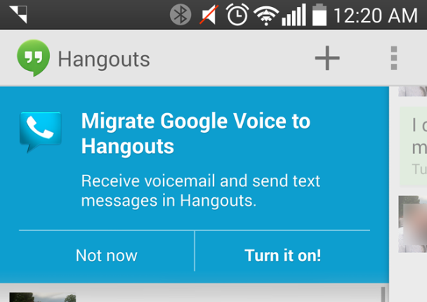 Google Voice integration 1