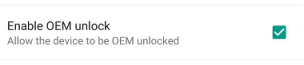 Enable OEM unlock