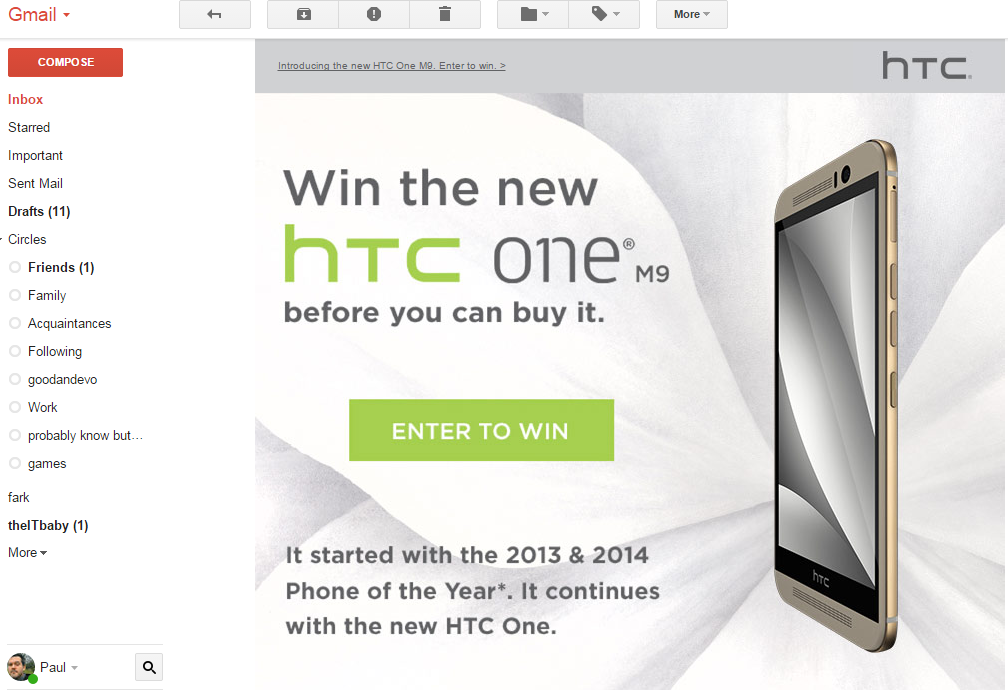 HTC One M9 price and contest