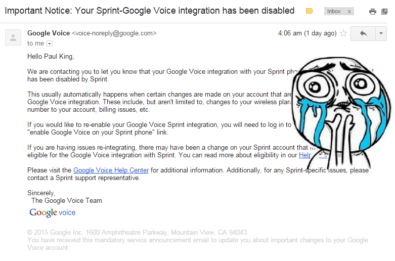 Disabled Google Voice