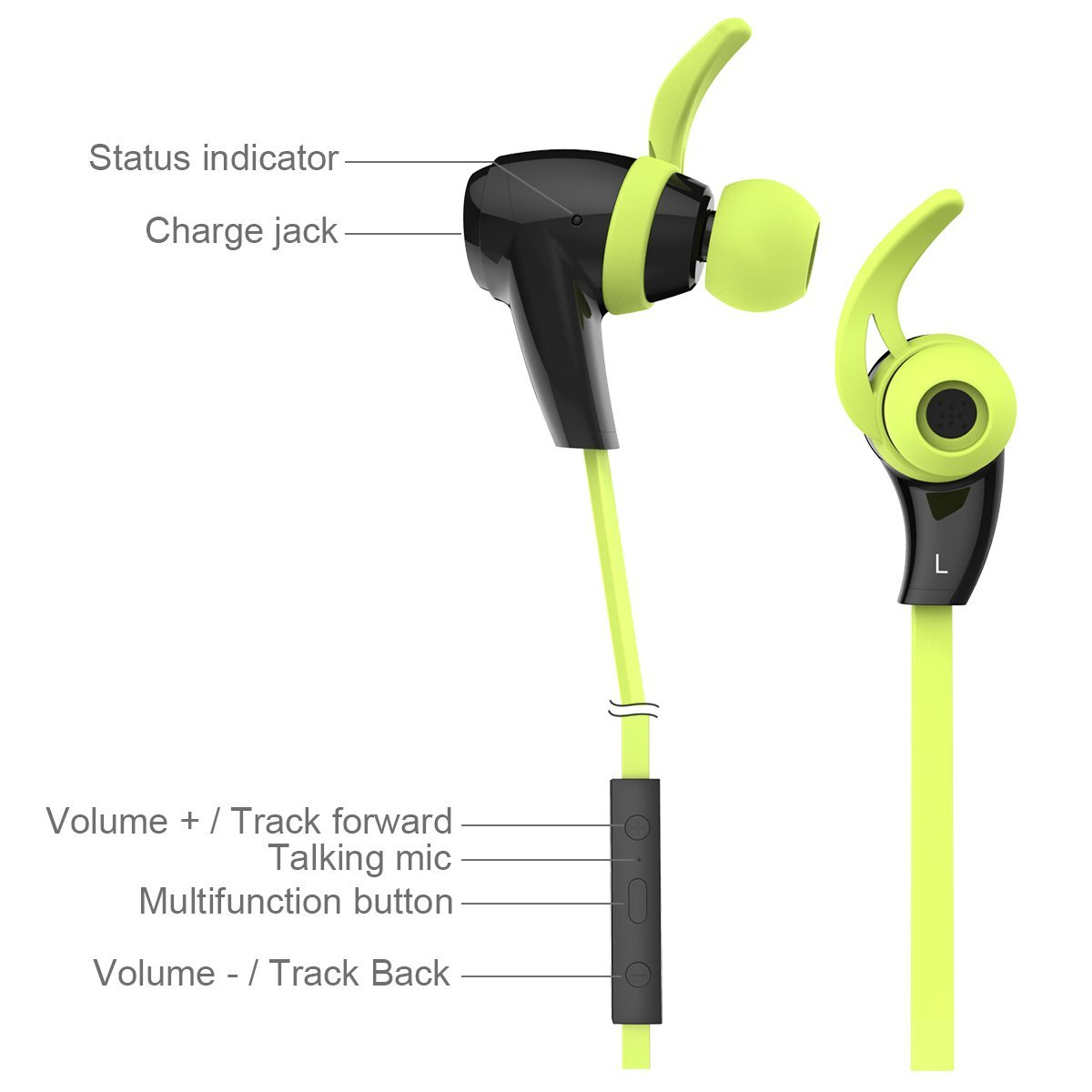 1byone Bluetooth Sports Earphones