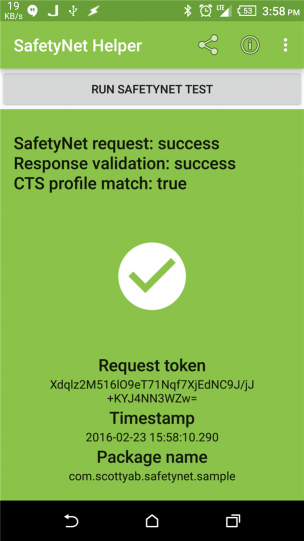 SafetyNet pass