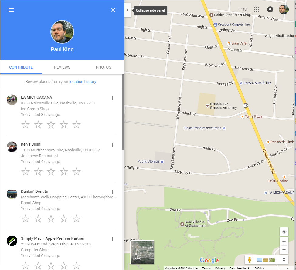 Google Local guides contributions