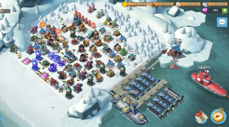 Boom Beach Level 65 everything maxed