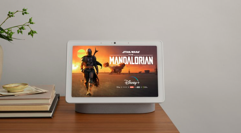 Disney+ Mandalorian on Google Nest Hub